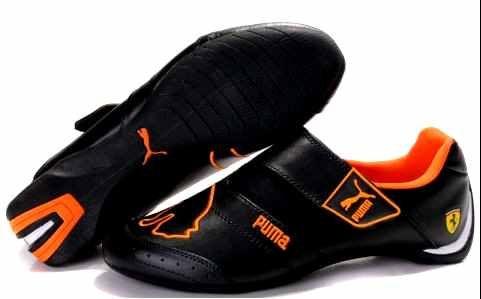 Puma Black and Orange Sport Shoes for Men