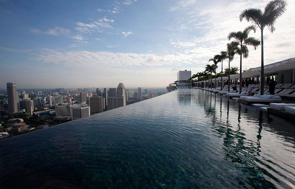 so coooooolSwimming Pools, Favorite Places, Resorts, Marina Bays Sands, Sands Hotels, Pools Design, Outdoor Pools, Singapore, Infinity Pools