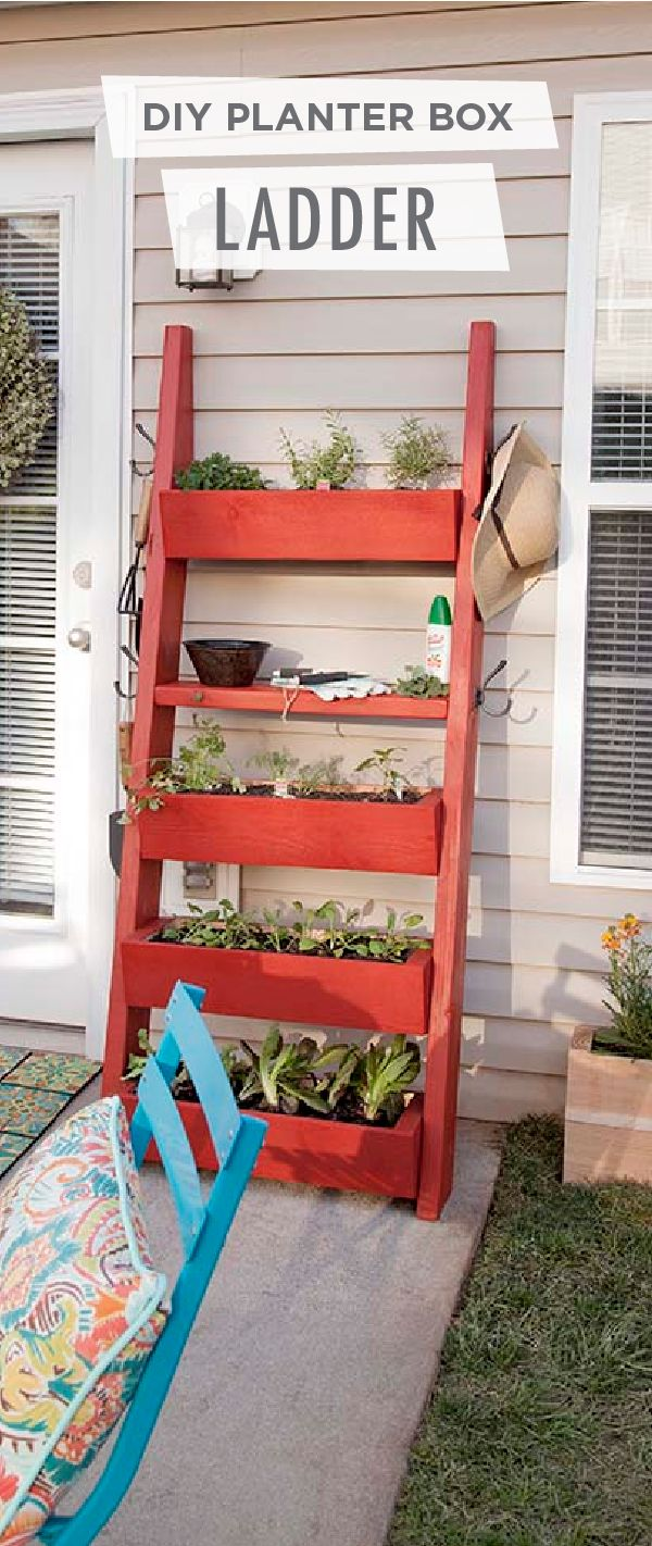 Give your outdoor patio a whole new look with this DIY planter box ladder from Liberty Hardware. This rustic backyard decor features a bold shade of Moroccan Ruby, but you can choose from BEHR's wide selection of premium paints to find the color that best fits your unique style. Use this easy tutorial to build your own outdoor planter today.