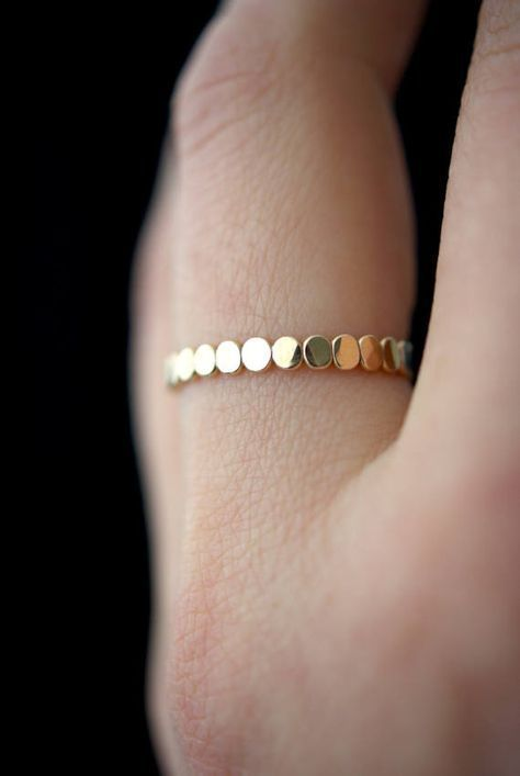 Gold Bead ring, Gold Fill stacking ring, stackable ring, thick gold ring, gold ring, bead ring, dot ring, gold stacking ring, beaded ring