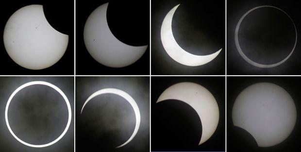 Le più belle foto dell'eclissi anulare del 20 maggio