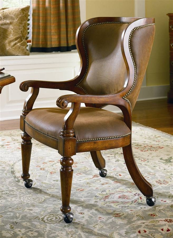 Lowest Price Online On All Hooker Furniture Waverly Place Tall Back Cherry Castered Game Chair