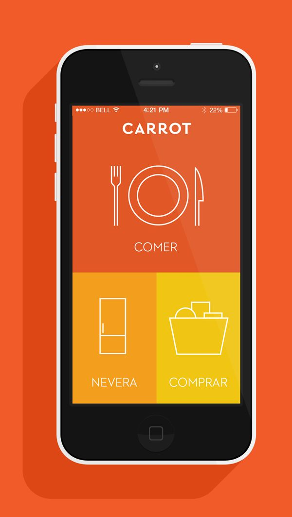 Carrot App by Device, via Behance