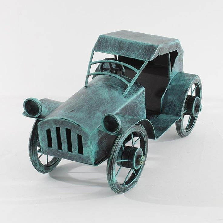 Great iron deco car in antique green color! www.inart.com