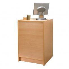 Counter top unit for exhibitions and retail storers