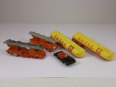 Vintage Old Lego & Viking Fire truck Shell tanker trailer mercedes H0 scale car in Toys & Hobbies, Building Toys, LEGO | eBay