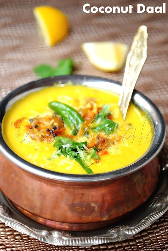 Coconut Daal / Lentils simmered in spicy creamy coconut sauce