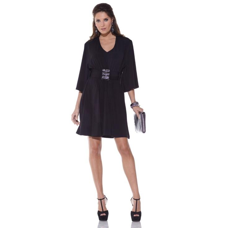 Marisa by Marisa Kenson Short Black Invisibelt Dress  Item: 165-666  HSN Price: $89.90  or 2 payments of $44.95