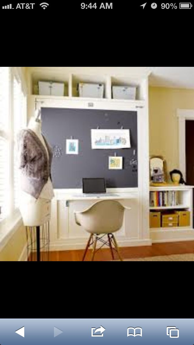 Murphy bed, desk (link leads nowhere, but like the concept)