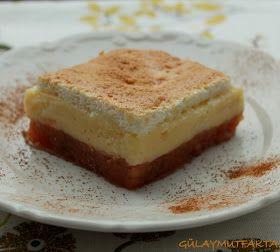 gülay mutfakta: Merengli Muhallebili Ayva Tatlısı