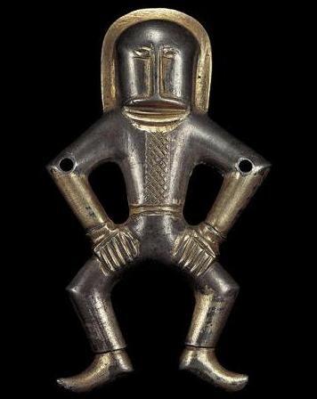 """descrita como """"el astronauta""""  actualmente en kiev estatua encontrada en una tumba escita cerca de china200 años de antiguedad"""
