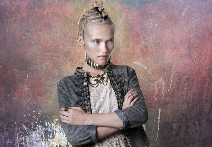 Institute Magazine The poetic warrior shooting Photographer Beatrice Capone Styling Ilaria Barbato Hair styling Naomi Liccardo Make up Laura Portomeo Model and muse Nastassia Yadyhina
