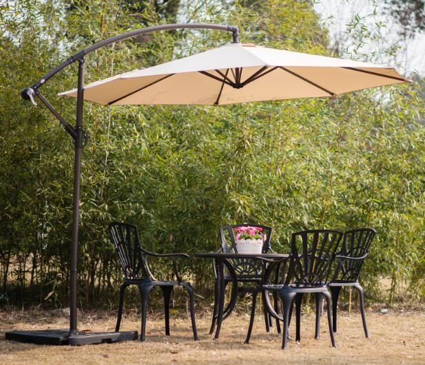 dia.300cm round cantilever parasol,alu frame or steel frame +polyester cover.