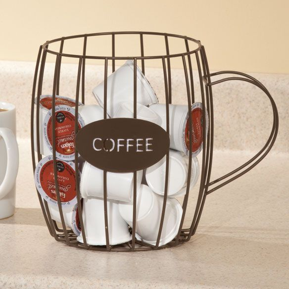A cute way to keep track of your coffee pods.