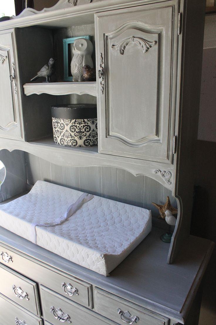 Vintage Ethan Allen Dresser Repurposed Into Weathered Gray