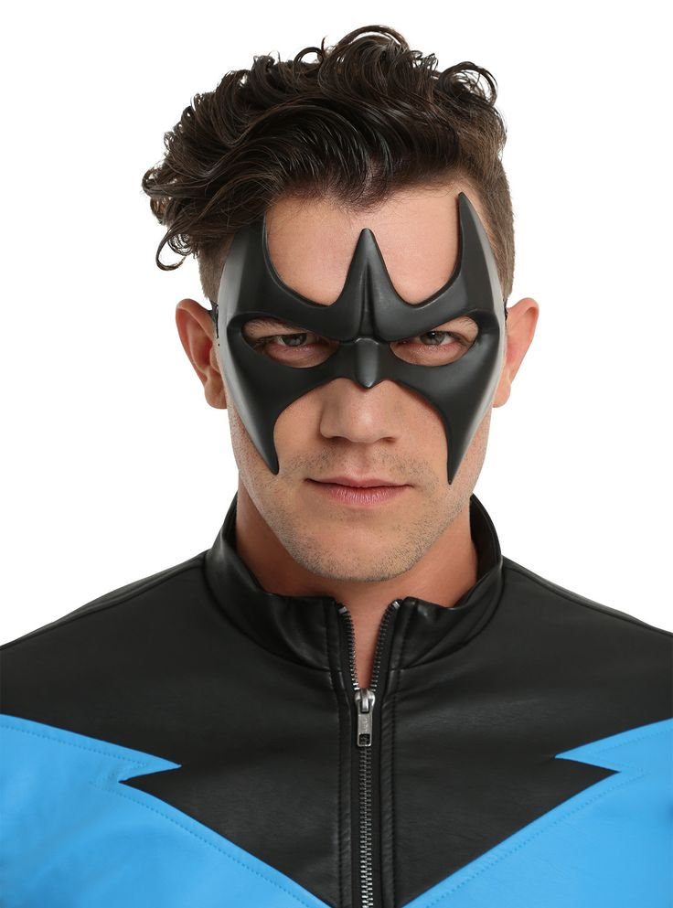 Become  Nightwing , Batman's sidekick turned superhero, in this identity concealing half mask from DC Comics'  Batman: Arkham  franchise. Adjustable elastic strap secures mask to your face.  One size; adjustable  PVC  Imported