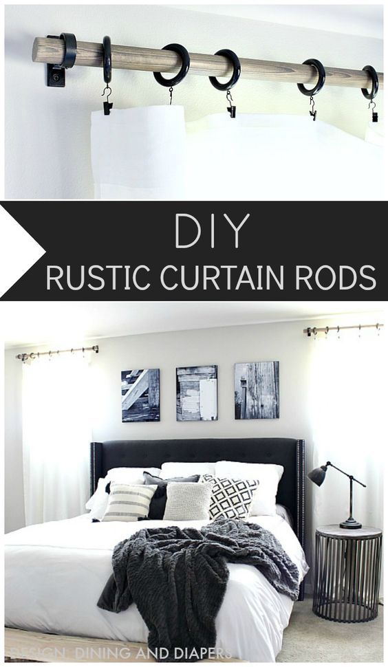 17 Diy Rustic Home Decor Ideas For Living Room: 17 Best Ideas About Rustic Curtain Rods On Pinterest