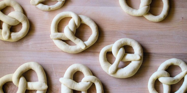 Shaped pretzel dough