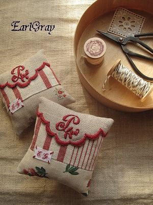 Use vintage linen with embroidered initials