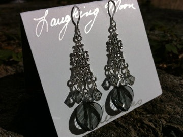 Goddess Chandelier EarringSterling silver by LaughingMoonCreation, $40.00