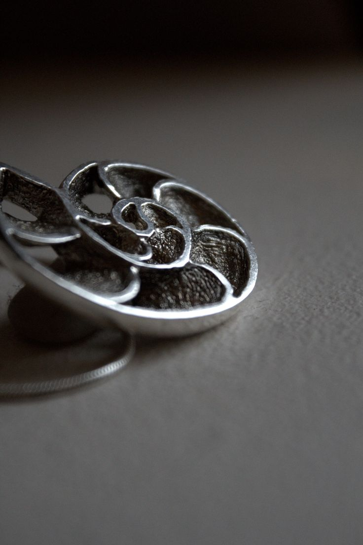 Sterling silver pendant made with casting methods