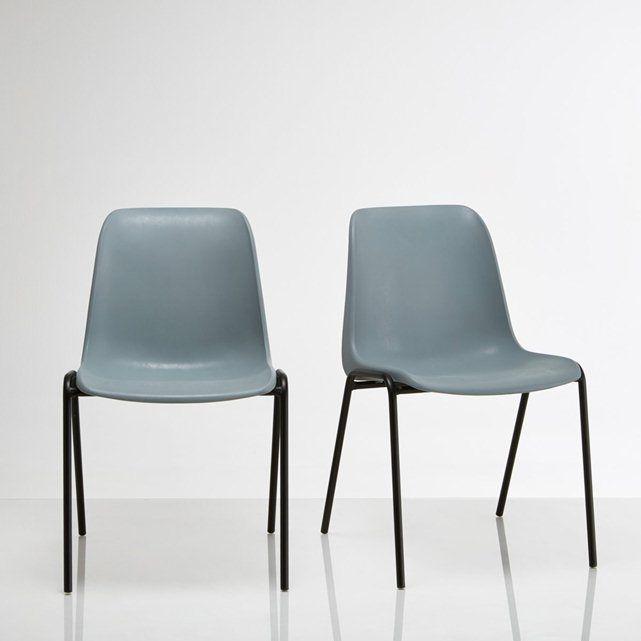 Chaise vintage empilable, (lot de 2), Janik PRIX MINI | La Redoute Mobile