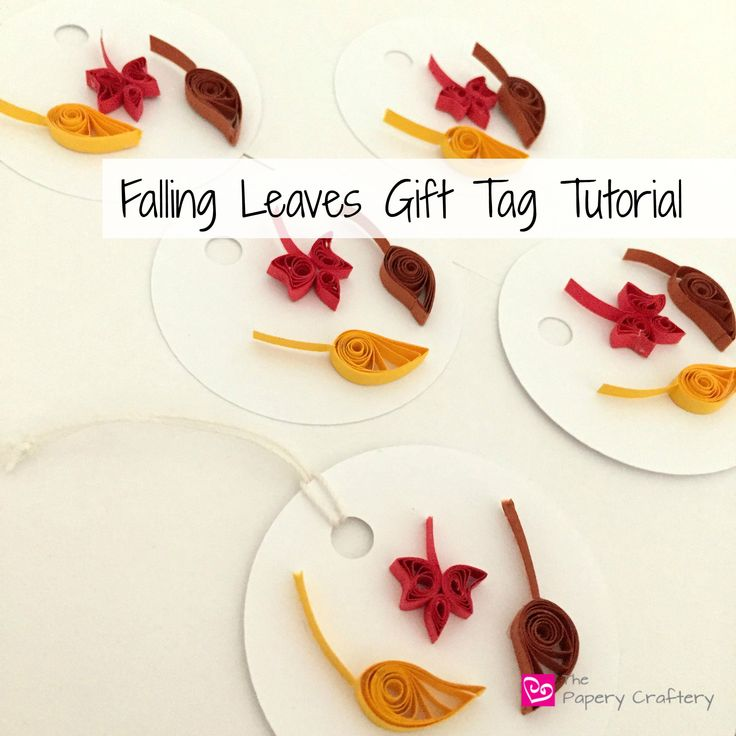 Falling Leaves Gift Tag Tutorial