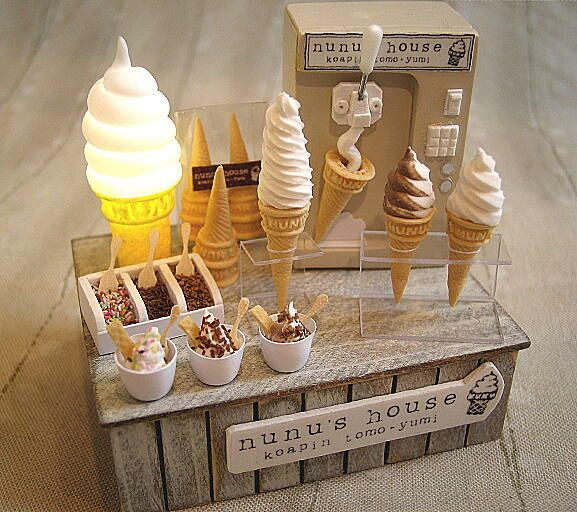 How adorable and incredible is this?  Nunu's House  Love the light up ice cream cone!