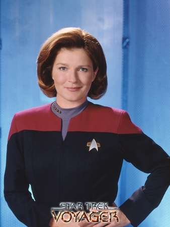 Star Trek: Voyager, Captain Kathryn Janeway. You can't beat Kirk but janeway comes a close second and much much preferable to Picard . .