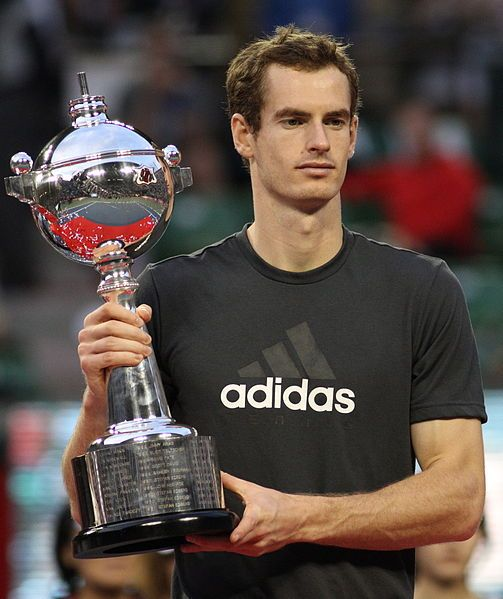 """Andrew Barron """"Andy"""" Murray (born 1987) is a Scottish professional tennis player, ranked World No. 4 & British No. 1. He achieved a top-10 ranking by the ATP for the first time on 16 April 2007, & reached a career peak of World No. 2 in August 2009, then again in 2013. He is the current holder of the Wimbledon Championships singles title, & is the 2012 Olympic tennis men's singles champion. In 2013, Murray became the 6th man in tennis history to have won $30,000,000 in career prize money."""