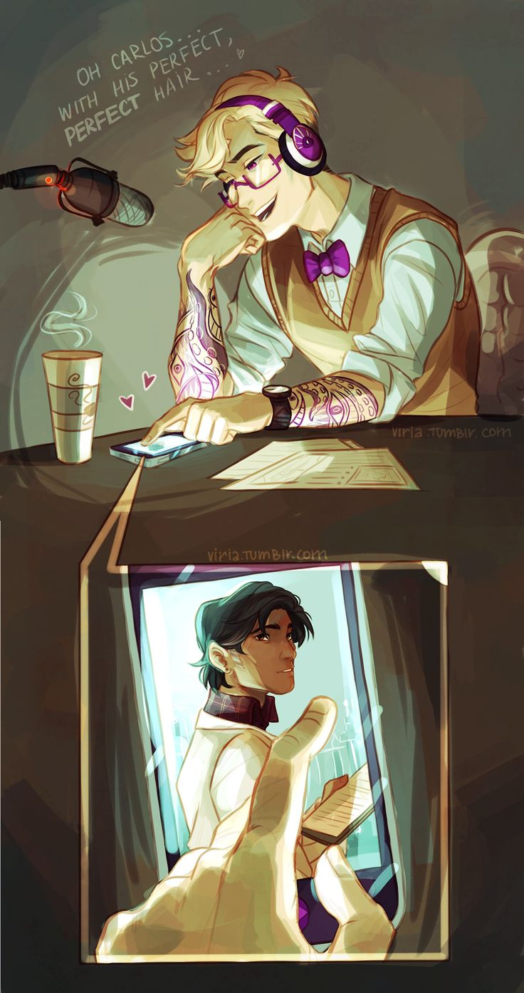 Night Vale by viria on tumblr. This is my headcanon. I know it's a common, boring and apparently racist headcanon but oh well  (Me casually commenting on the person before meeee...it isn't racist, this is immediately how I envisioned the characters. I love the artist~)
