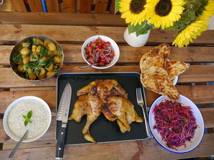 The Mocking Bird: Bindi BBQ'd Bird with Summerfied Indian Sides
