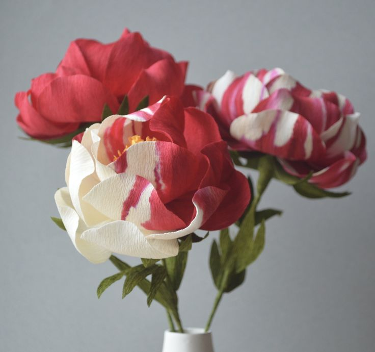 Painted paper flowers by Lucia Balcazar #crepepaperrevival
