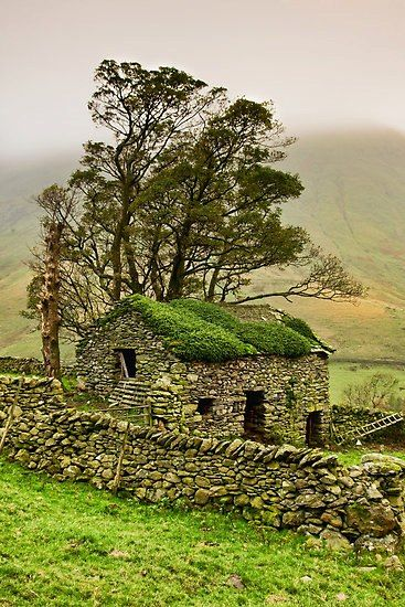 Stone Barn, Yorkshire Dales, England by Gary Kenyon                                                                                                                                                      More