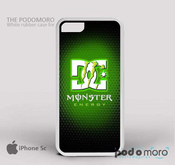 DC Monster Energy Green Light for iPhone 4/4S, iPhone 5/5S, iPhone 5c, iPhone 6, iPhone 6 Plus, iPod 4, iPod 5, Samsung Galaxy S3, Galaxy S4, Galaxy S5, Galaxy S6, Samsung Galaxy Note 3, Galaxy Note 4, Phone Case