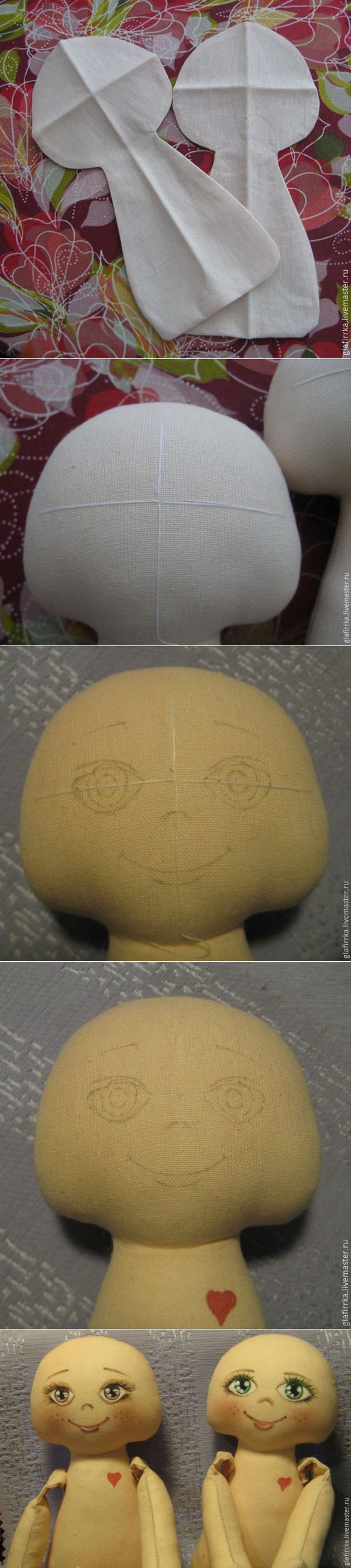 How to mark the face of the textile dolls - Fair Masters - handmade, handmade