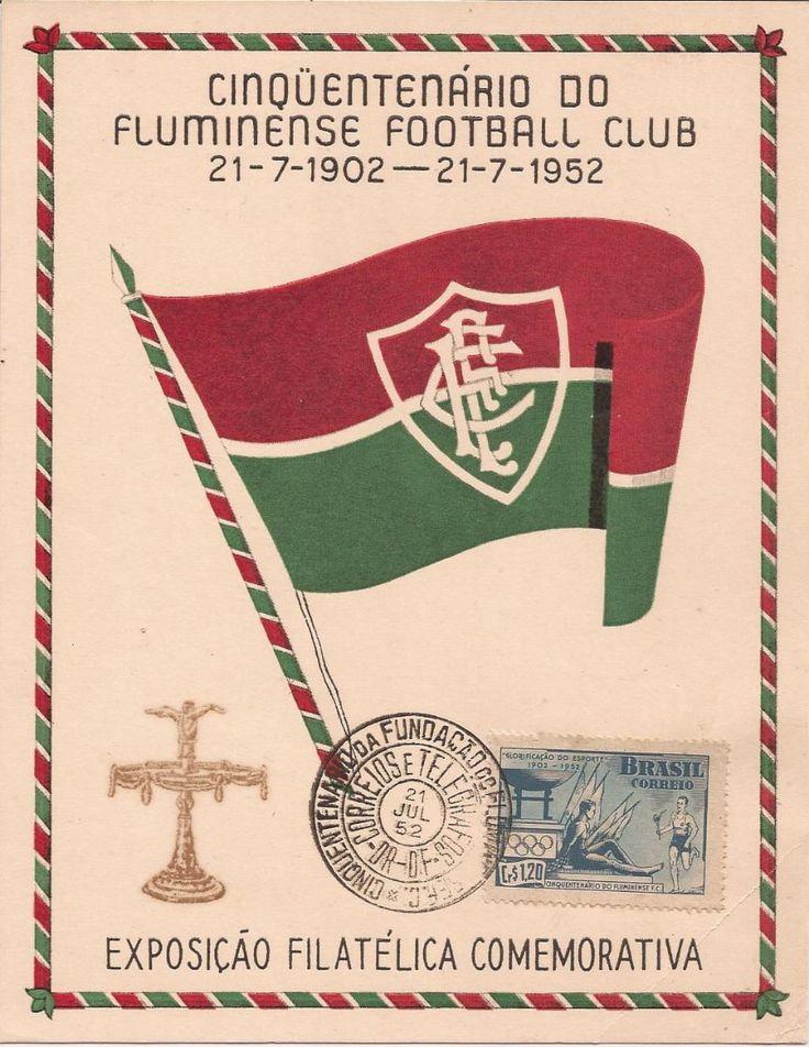 Fluminense 50 Anos-folhinha Com Selo E Cbc-1952