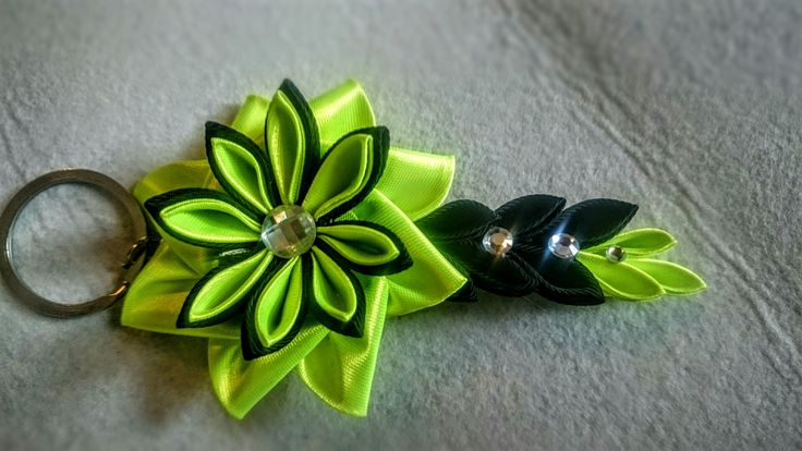 Portachiavi personalizzati kanzashi flowers