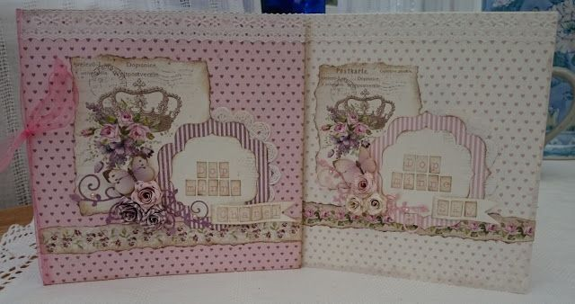 Christeningcards for two sisters Pion design My precious daughter #Piondesign  'My precious daughter'