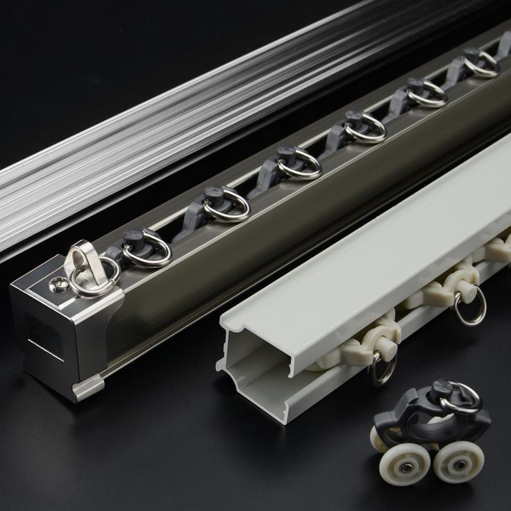 1 Meter High Quality Aluminum Alloy Soundproof Curtain Tracks Dubble White Curved Curtain Poles With Curtain Accessories