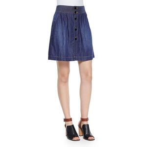FRAME Le Tulip Denim Skirt