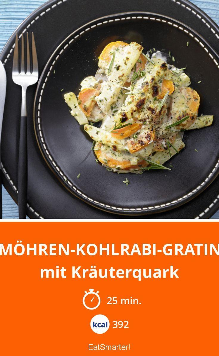 Unser Low-Carb Möhren-Kohlrabi-Gratin ist super lecker und schmeckt cremig fein.