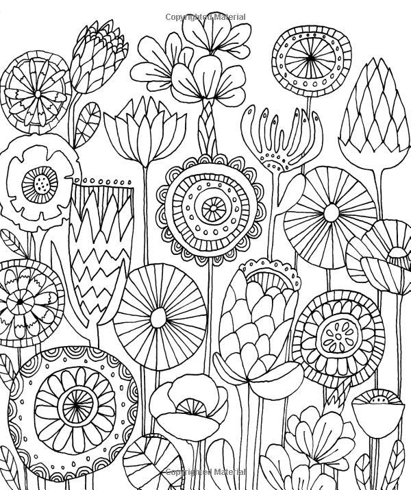whimsical flowers coloring pages - photo#4