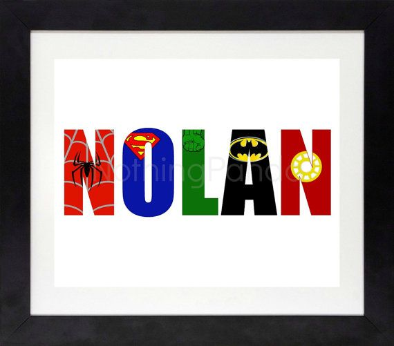 One Day Sale Superhero Name // Superhero Wall Art by NothingPanda