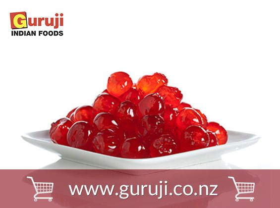 Red Cherry glaced are available online at GuruJi supermarket in Christchurch, NZ.