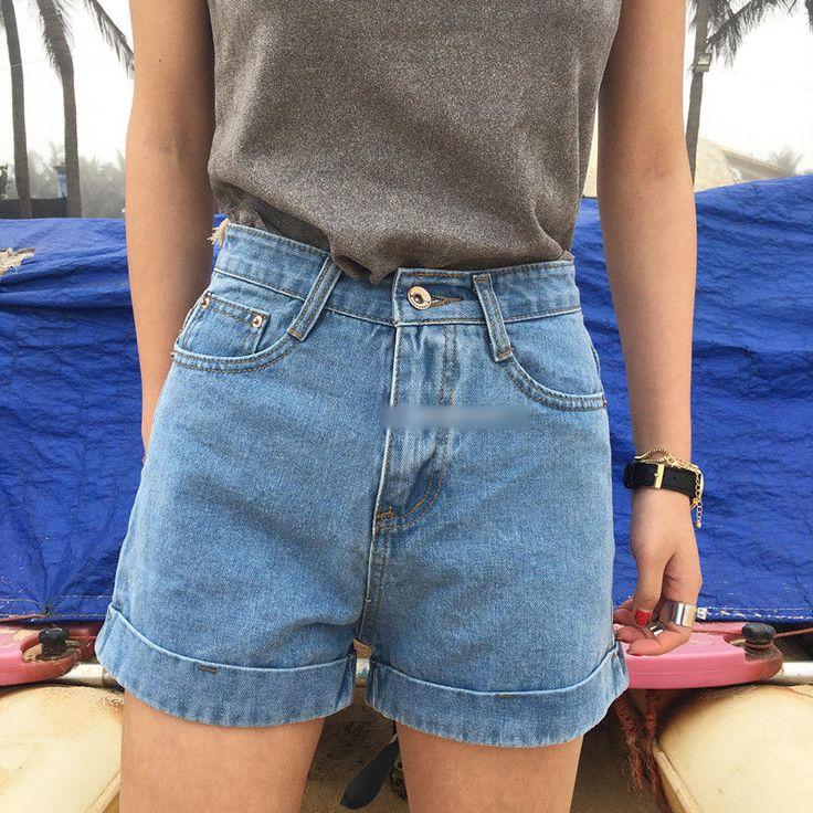 Octavia High Waist Washed Denim Shorts | YESSTYLE