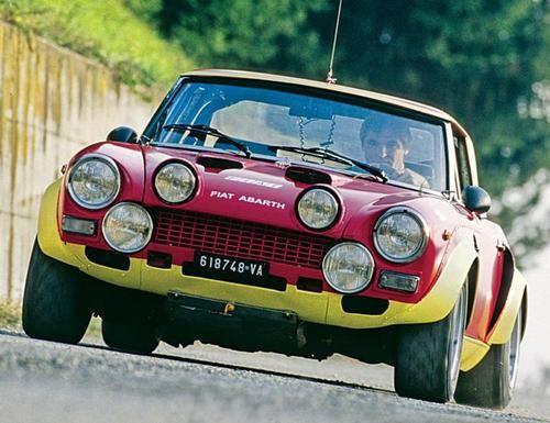 Fiat 124 Abarth Rally  1973: 163bhp.1974: 200bhp.1975: 210bhp.  Last winning in 1980, retiring in 1981.