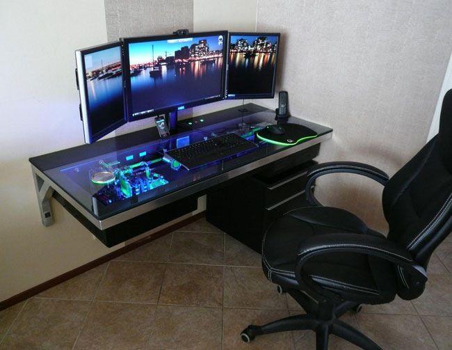 32 best images about gaming desk on pinterest. Black Bedroom Furniture Sets. Home Design Ideas