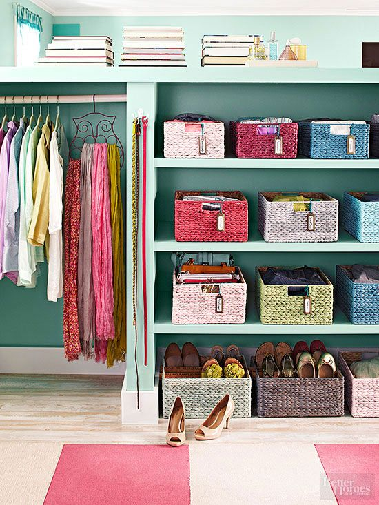 Colorful Baskets Boost A Closetu0027s Utility, Organize Smaller Accessories,  And Brighten Views. Stock