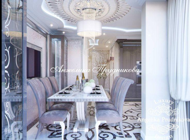 Дизайн интерьера кухни в ЖК Фортепьяно в стиле Ар Деко - фото